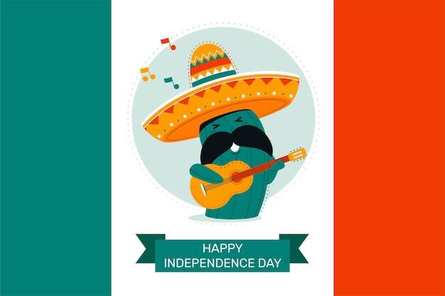 Bannière du jour de l'indépendance du mexique