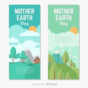 Bannière du jour de la terre mère