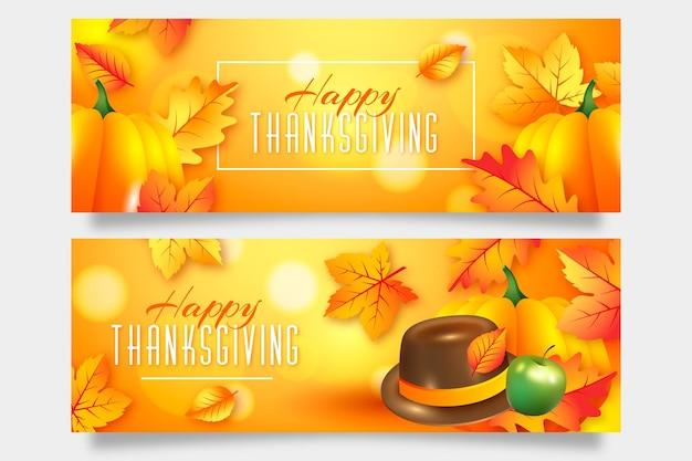 Bannière du jour de thanksgiving