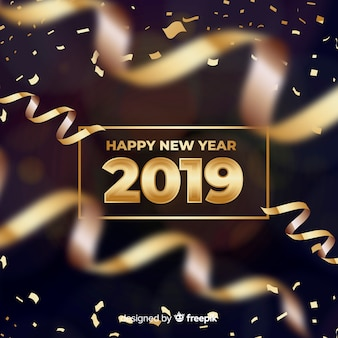 Bannière du nouvel an 2019