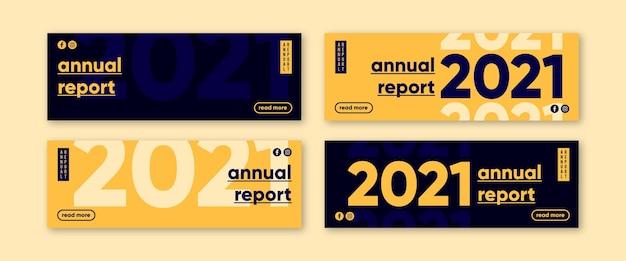 Bannière du rapport annuel