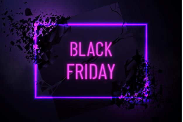 Bannière du vendredi noir avec effet explosif
