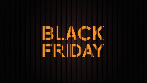 Bannière du vendredi noir minimaliste