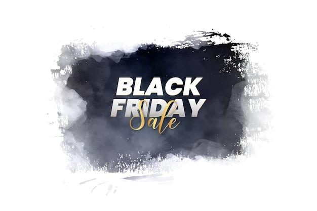 Bannière du vendredi noir moderne avec éclaboussure de pinceau abstrait
