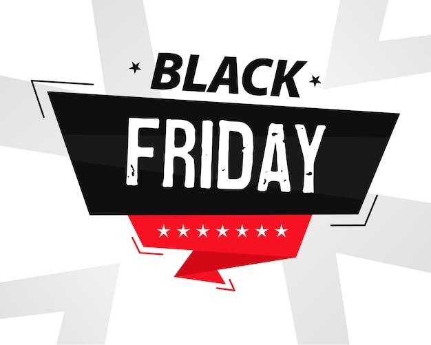 Bannière du vendredi noir moderne