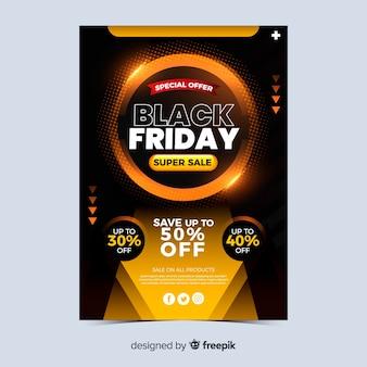 Bannière du vendredi noir super vente