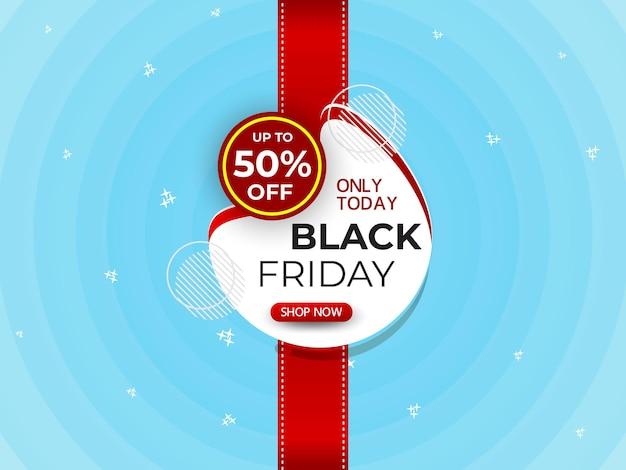 Bannière du vendredi noir symbole de l'insigne du vendredi noir offre post conception publication sur les médias sociaux black friday