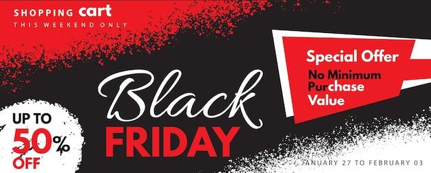 Bannière du vendredi noir