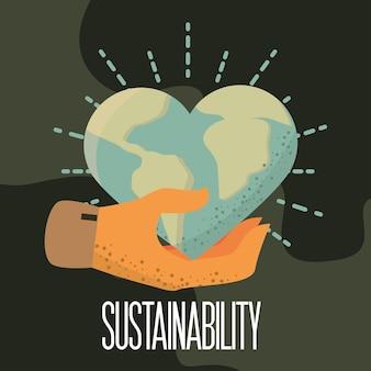 Bannière durabilité avec coeur