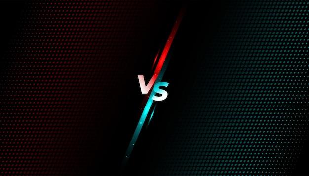 Bannière d'écran de combat contre vs combat