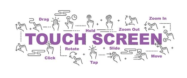 Bannière d'écran tactile