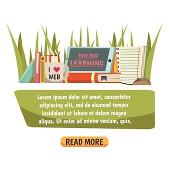 Bannière d'éducation en ligne