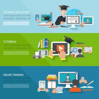Bannière de l'éducation en ligne
