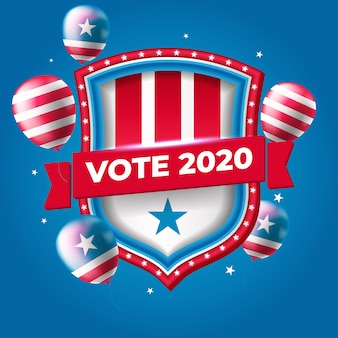 Bannière de l'élection présidentielle des états-unis 2020