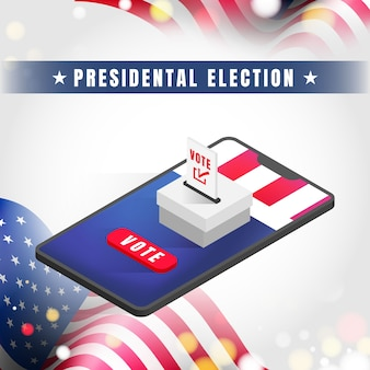 Bannière de l'élection présidentielle des états-unis d'amérique 2020.