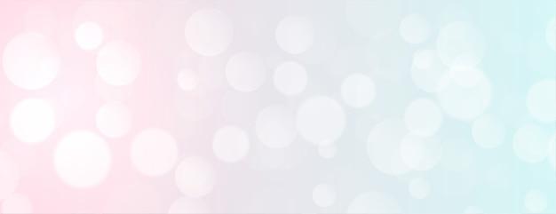 Bannière élégante bokeh de couleur douce avec espace de texte