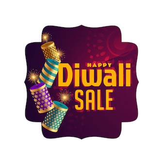 Bannière élégante de célébration de vente de diwali
