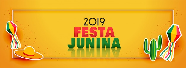 Bannière élégante du festival festa junina