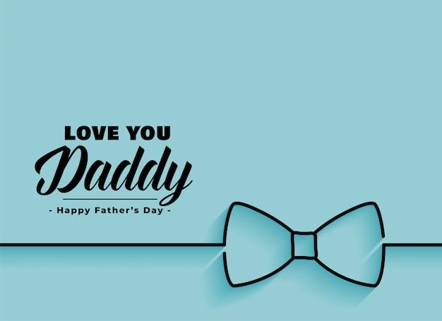 Bannière élégante fête des pères heureux