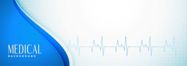 Bannière élégante de science médicale et de soins de santé
