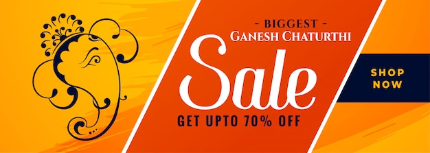 Bannière élégante de vente de festival de ganesh chaturthi