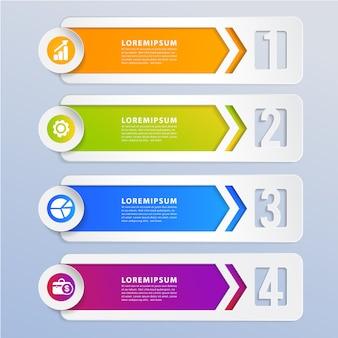 Bannière d'élément de conception infographique moderne.