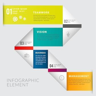 Bannière d'élément d'infographie moderne.