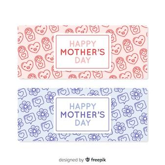 Bannière des éléments de la fête des mères