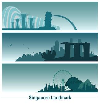 Bannière emblématique de singapour.