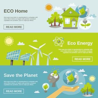 Bannière d'énergie écologique