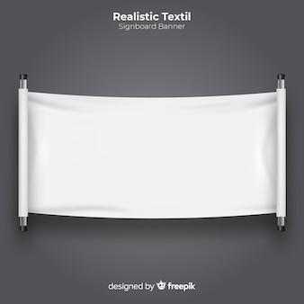 Bannière de l'enseigne textile