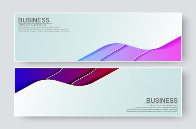 Bannière d'entreprise avec fond de vague