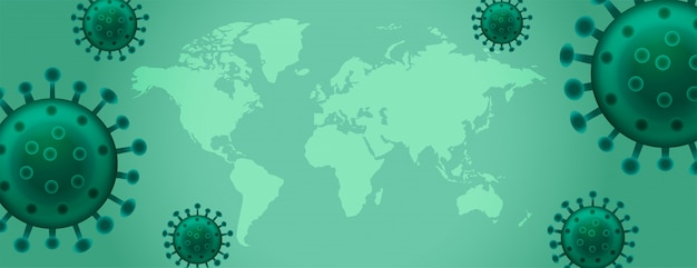 Bannière d'épidémie de virus de la maladie de coronavirus avec espace de texte