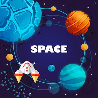 Bannière de l'espace.
