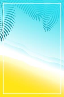 Bannière d'été ou arrière-plans avec un espace pour le texte. carte de voeux, affiche et publicité, papier peint. paysage d'été, vacances, week-end, concept de vacances. bonne journée brillante.