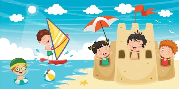 Bannière d'été des enfants