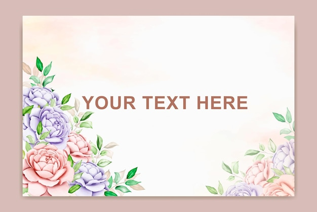 Bannière d'été avec feuille aquarelle fleur
