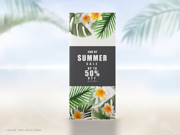 Bannière d'été floral tropical