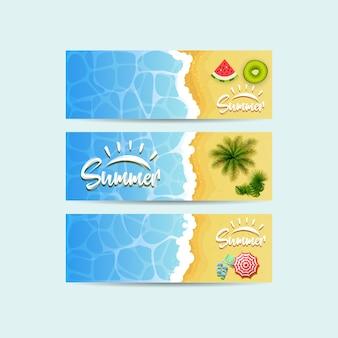 Bannière d'été