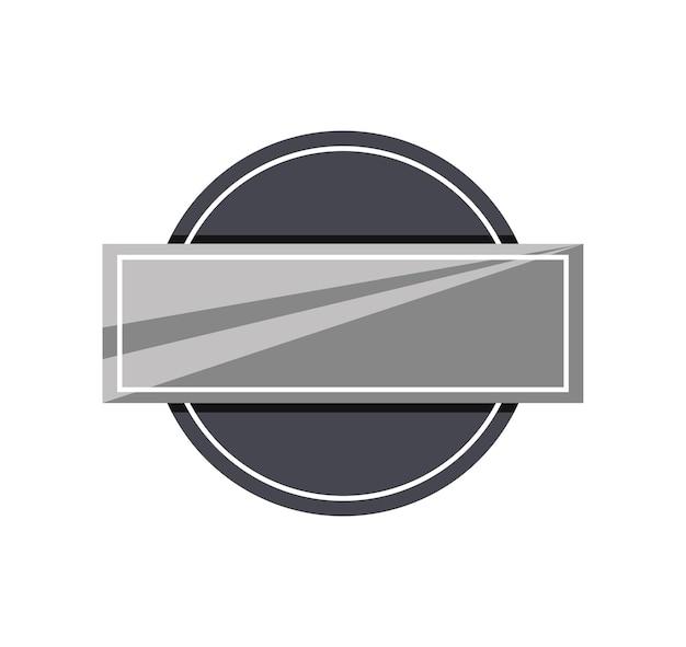 Bannière d'étiquette métallique