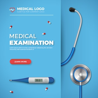 Bannière d'examen médical