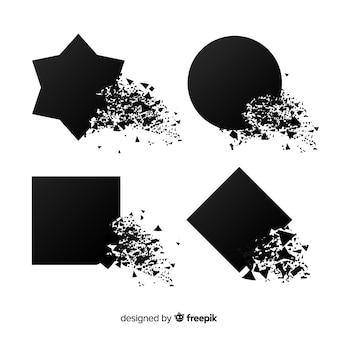 Bannière d'explosion noire