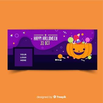 Bannière facebook avec concept halloween