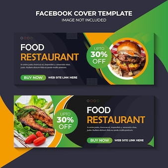 Bannière facebook de food restaurant