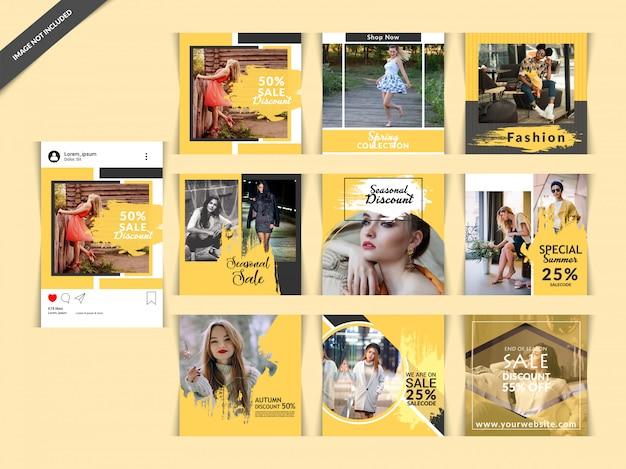 Bannière fashion web pour les médias sociaux