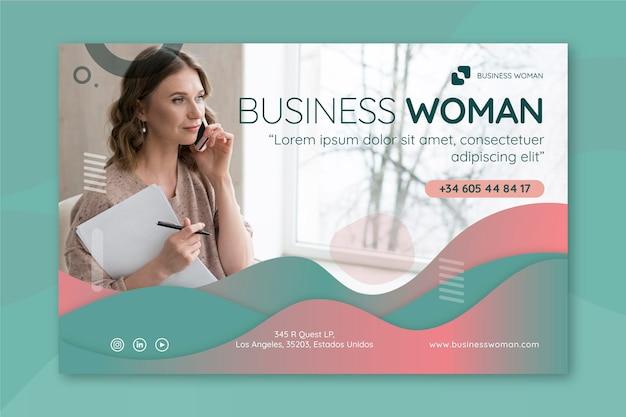 Bannière de femme d'affaires