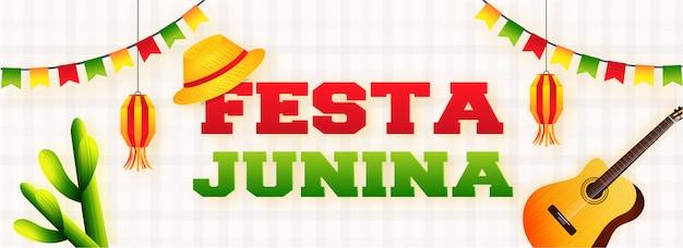 Bannière festa junina party celebration