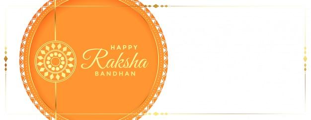 Bannière de festival élégant traditionnel joyeux raksha bandhan