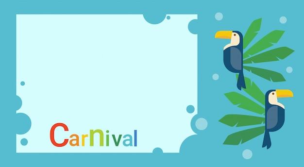 Bannière de la fête colorée du carnaval du brésil à rio