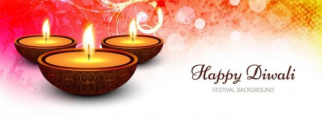Bannière de fête créative joyeux diwali